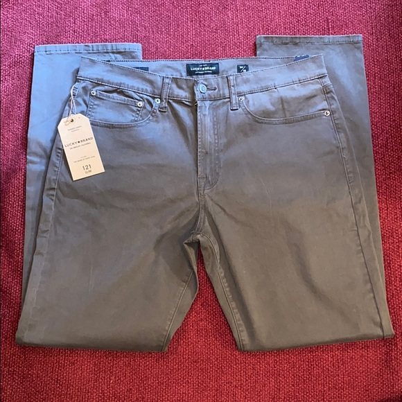Lucky Brand Other - NEW Lucky Brand Jeans Grey 121 Slim Straight Pants
